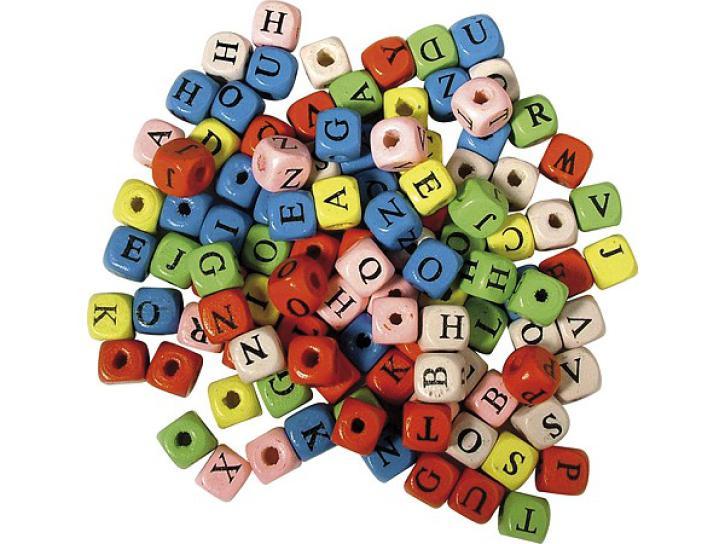 Holz-Buchstabenwürfel 50g