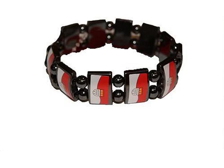 Armband Köln Metall rot/weiß