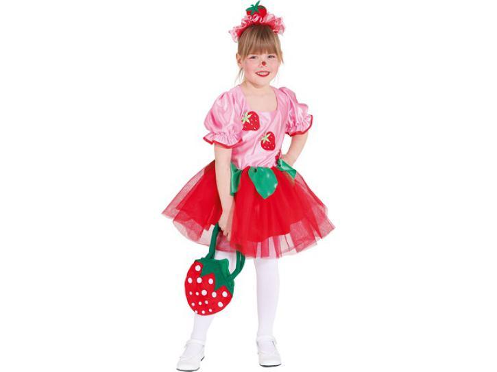 Kostüm Erdbeermädchen Gr.140