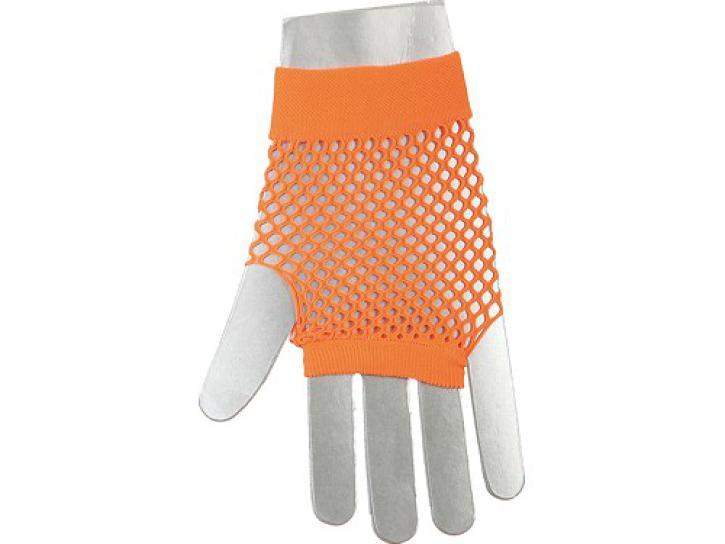 Netzhandschuhe fingerlos, kurz neonorange