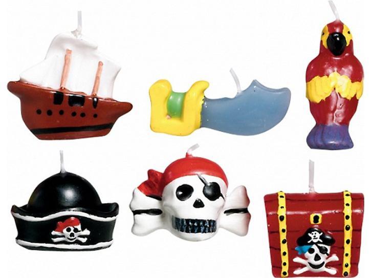 Kerze Piraten Party 6 Stk.