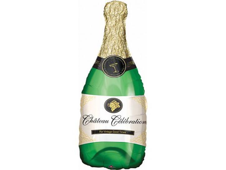 Folienballon Champagne Flasche