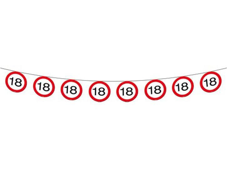 Girlande Verkehrsschild 18 12m