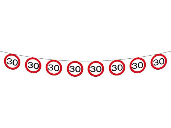Girlande Verkehrsschild 30 12m