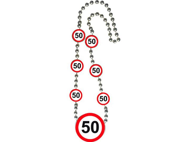 Kette Verkehrsschild 50