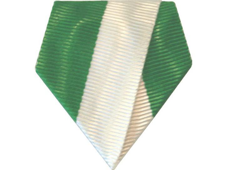 Bandschluppe grün-weiß