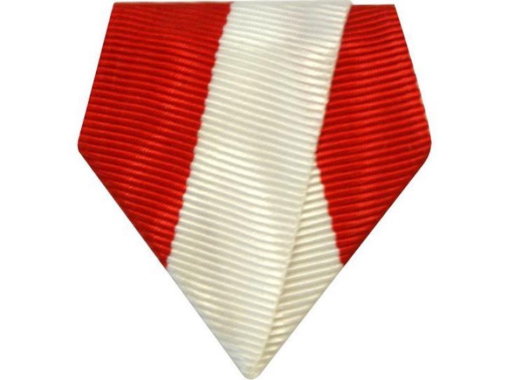 Bandschluppe rot-weiß