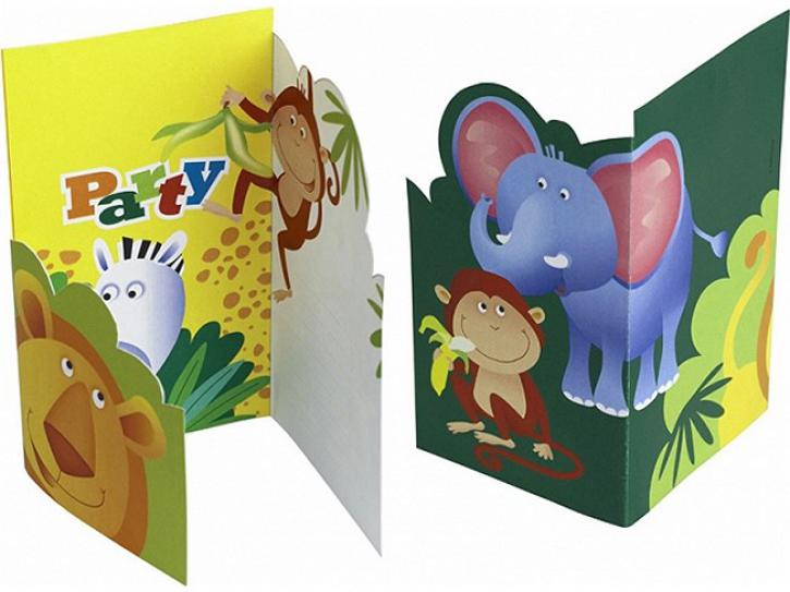 Einladungskarten Safari 6 Stk.