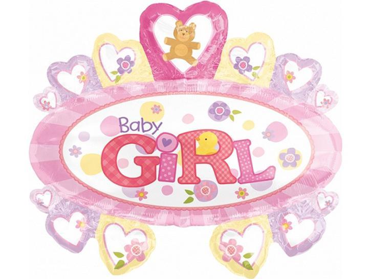 Folienballon Baby Girl 27x31in.