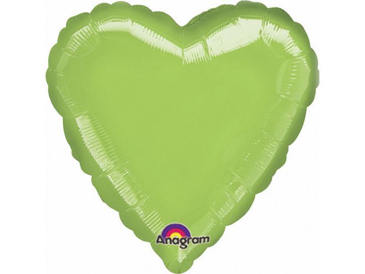 Folienballon Herz hellgrün 45cm
