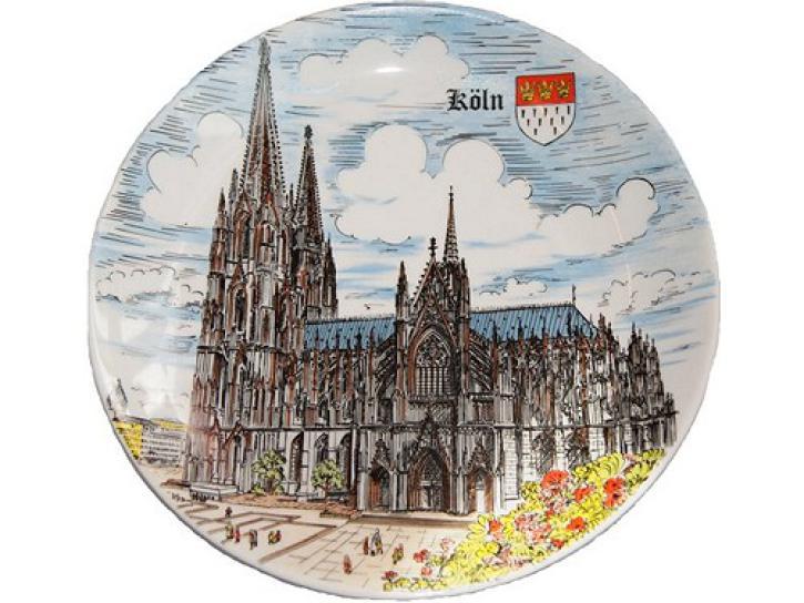 Teller Kölner Dom 24 cm