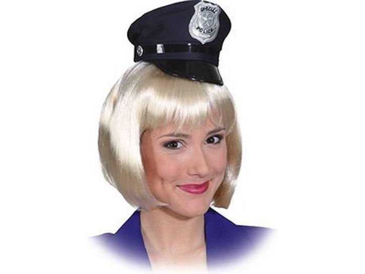 Haarreif Minihut Police blau