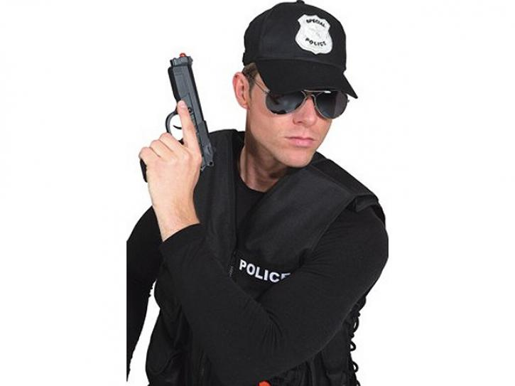 Mütze Cap Police schwarz