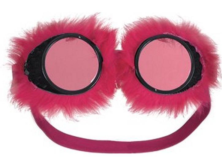 Brille mit Fell pink