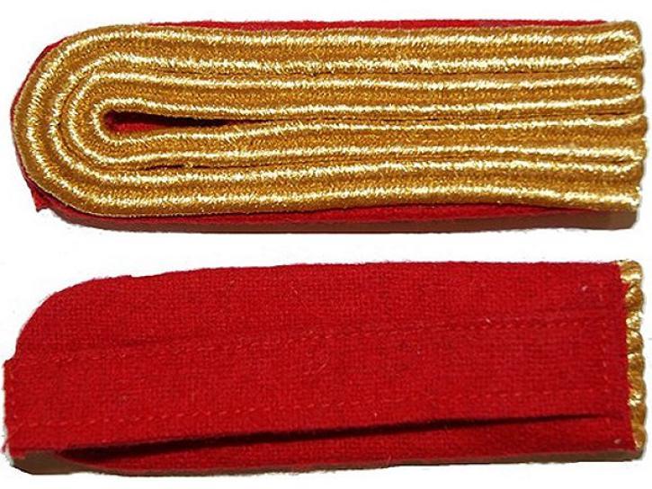 Schulterstücke rot/gold 4 Streifen