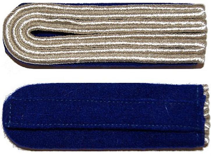 Schulterstücke blau/silber 4 Streifen