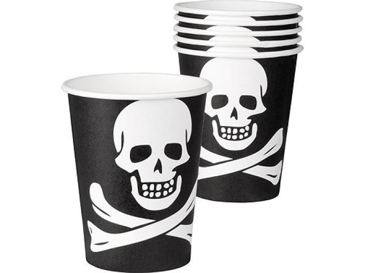 Pappbecher Pirat 6 Stck, 25 cl