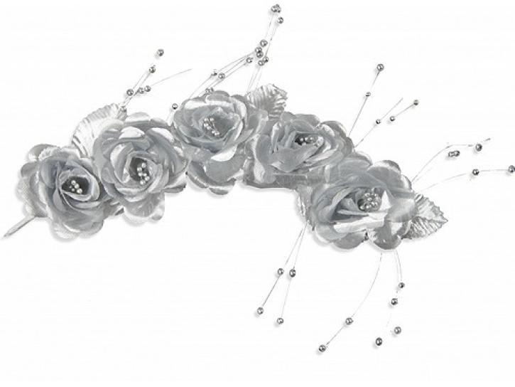 Rosengirlande silber 34 cm