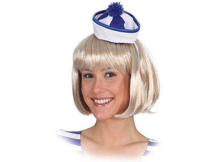 Minihut Sailor blau/weiß