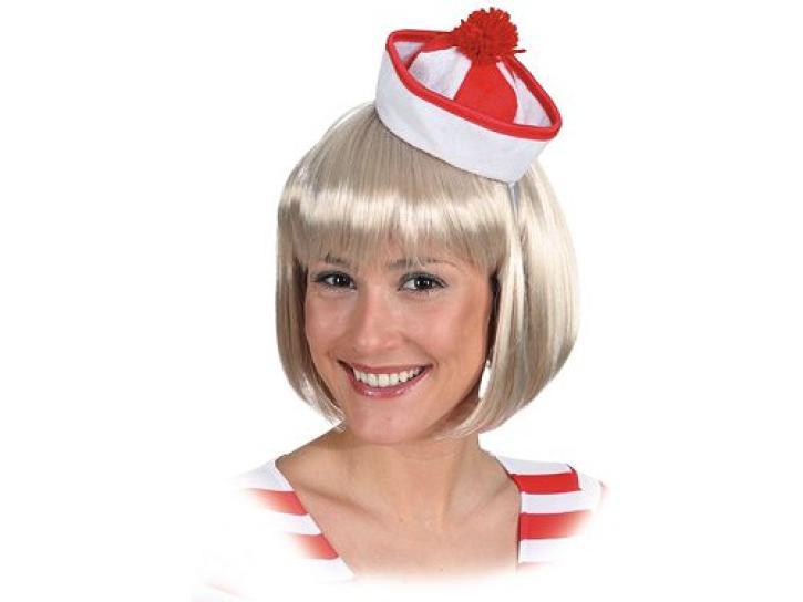 Minihut Sailor rot/weiß