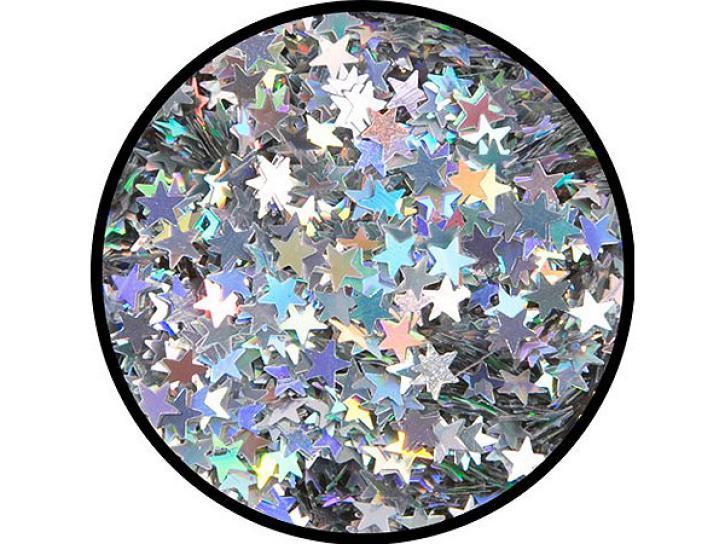 Effekt-Glitzer Silber-Sterne 6g Dose