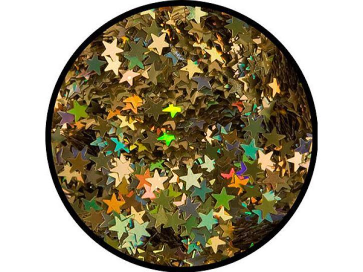 Effekt-Glitzer Gold-Sterne 6g Dose