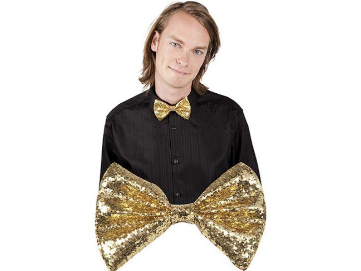 Fliege Glitter gold