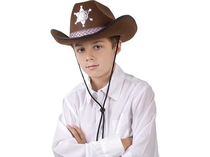 Hut Sheriff für Kinder braun