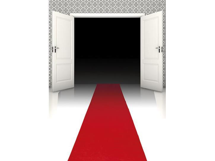 Roter Teppich Läufer rot 450 x 60 cm