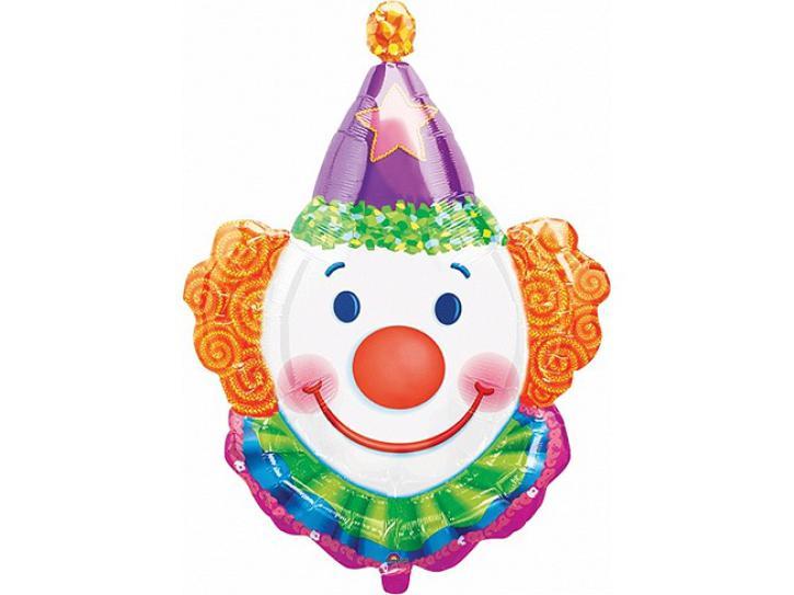 Folienballon Clown mit Kragen