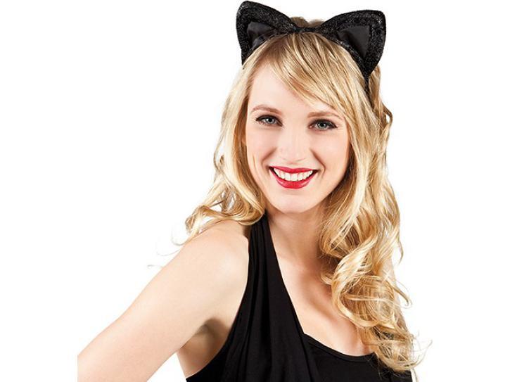 Haarreif Katzenohren Samt