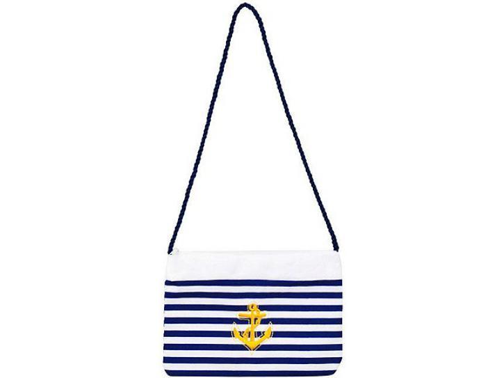 Handtasche Navy Matrosin blau/weiß