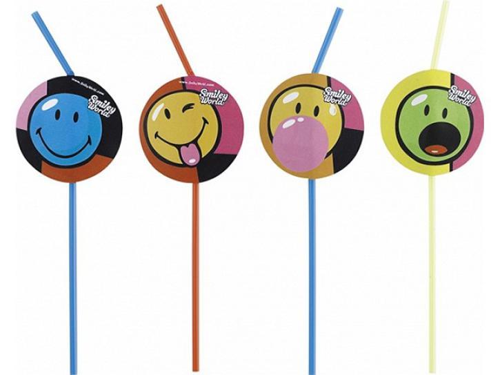 Trinkhalme Smiley Comic 8 Stk.