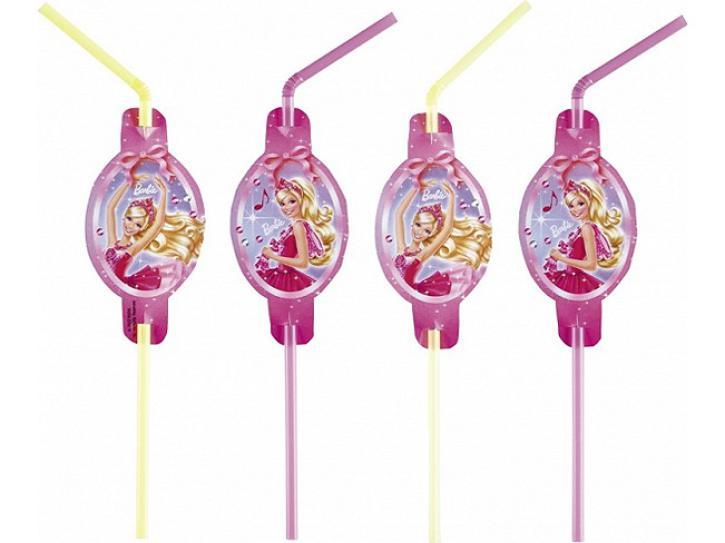 Trinkhalme Barbie 8 Stk.