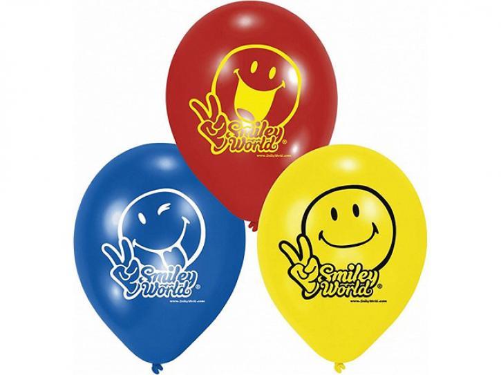 Luftballon Smiley Comic 6 Stk.