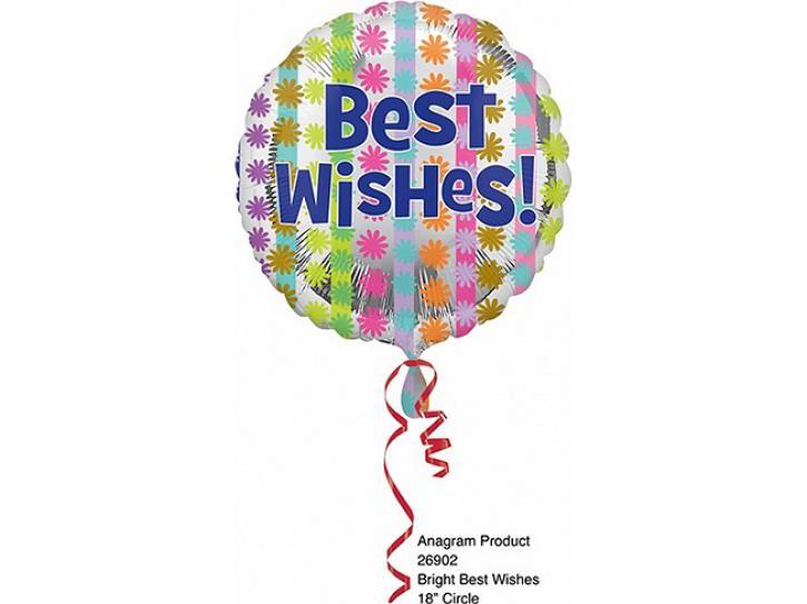 Folienballon Best Wishes 45 cm