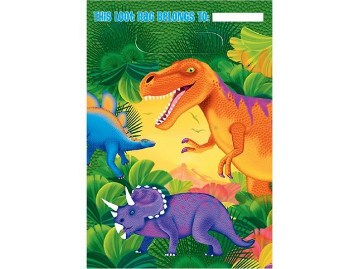 Partytüte Dino 8 Stk.