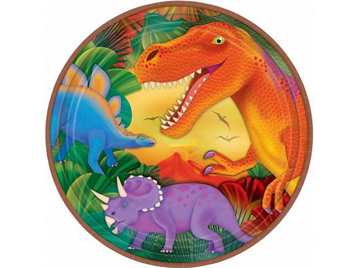 Teller Dinosaurier 8 Stk.
