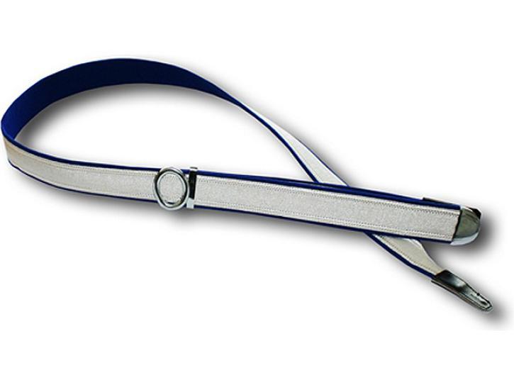 Bandoliere  170 - 195 cm  blau/silber