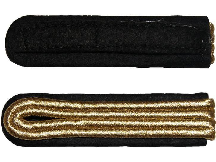 Schulterstücke schwarz/gold 2 Streifen