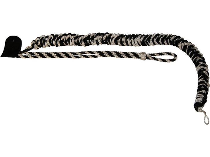 Fangschnur schwarz/weiß