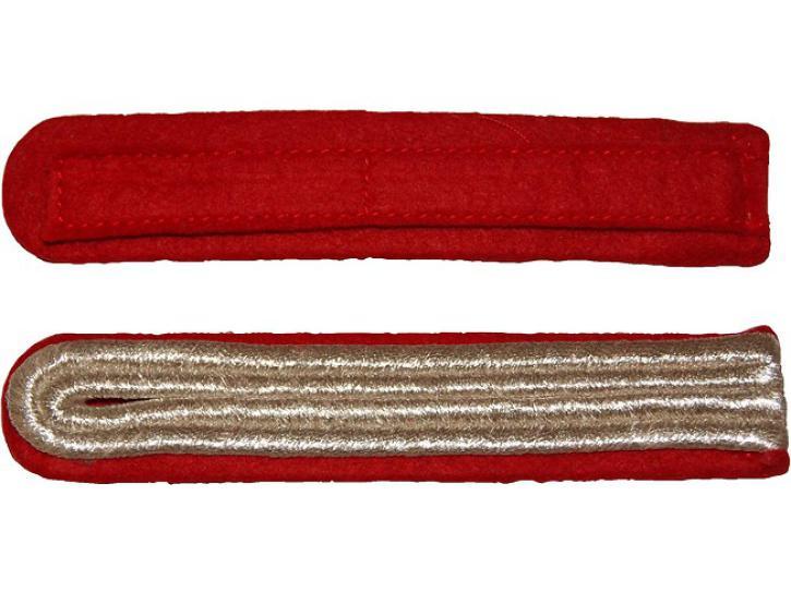 Schulterstücke rot/silber 2 Streifen