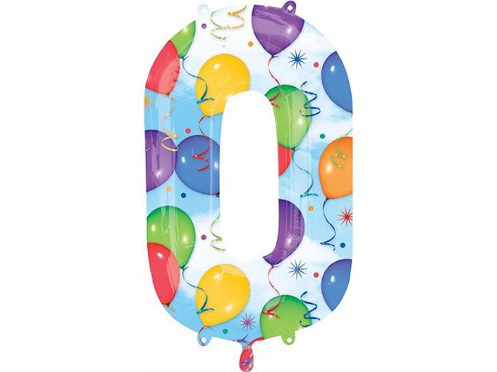 Folienballon Zahl 0 Balloons