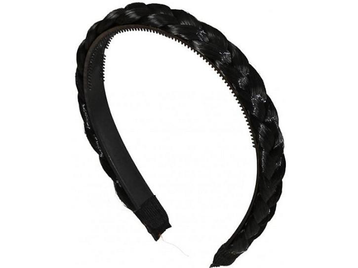 Haarreif geflochten schwarz