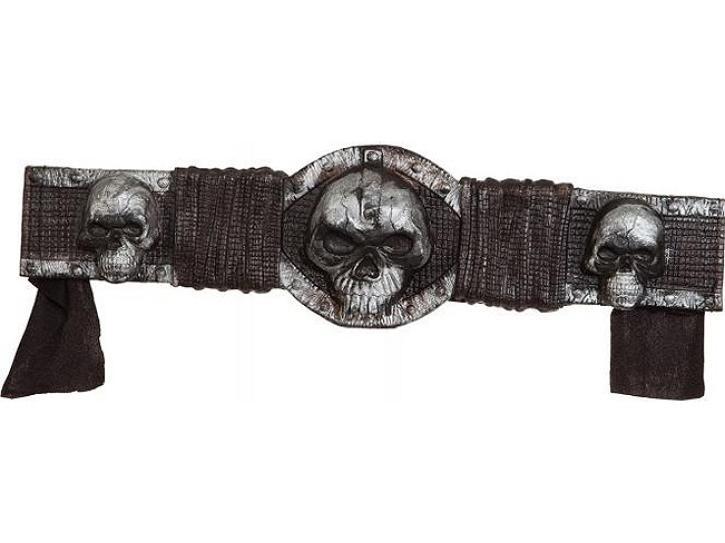 Gürtel mit Totenköpfen zum Binden