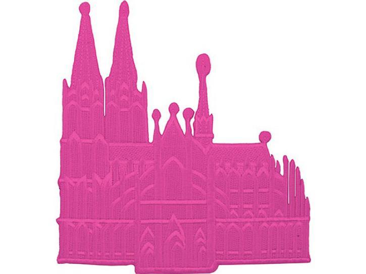 Bügelbild Dom pink rosa mittel