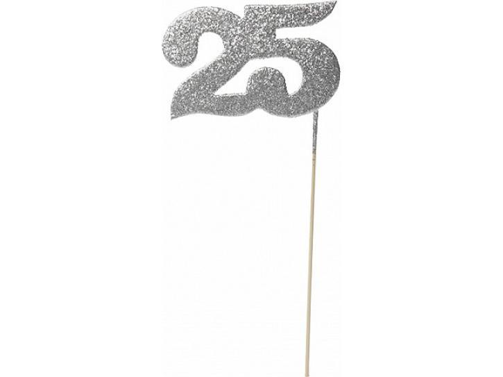 Deko Glimmer Picker 25 silber
