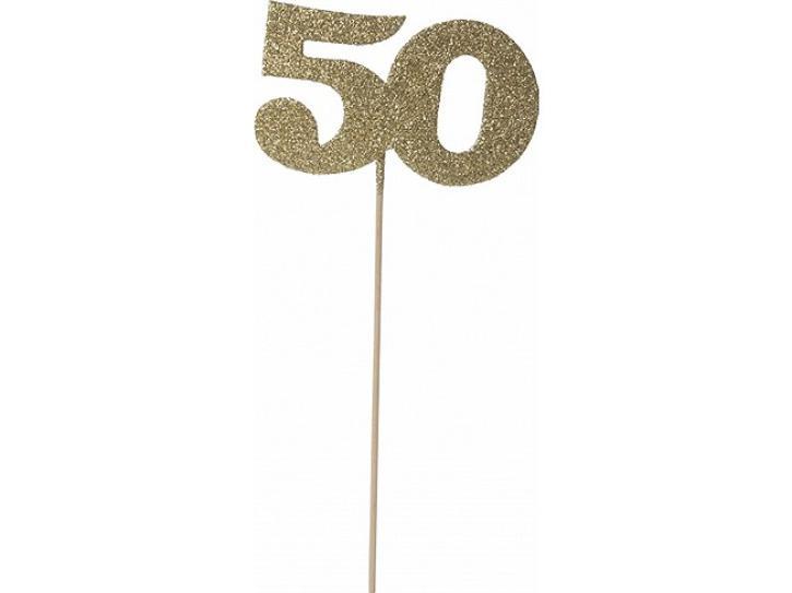 Deko Glimmer Picker 50 gold