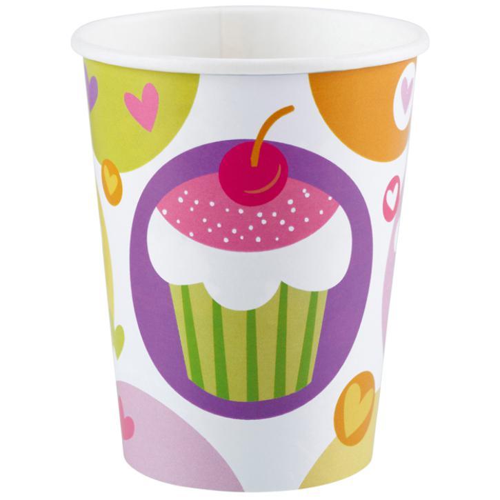 Becher Cupcake Party 8 Stk.