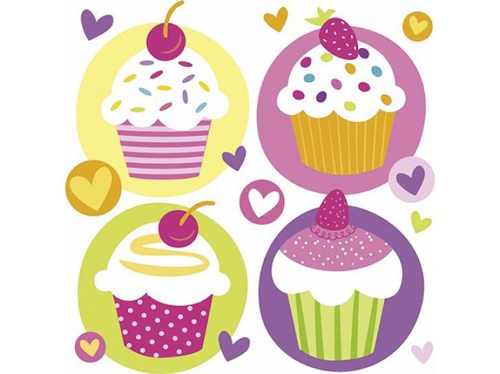 Servietten Cupcake Party 20 Stk.